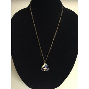 Sarah Coventry Gold Floral Pendant Long Necklace